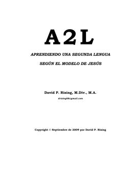 A2L – Aprendiendo Una Segunda Lengua