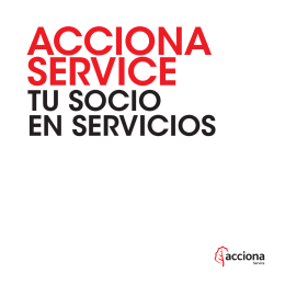 Folleto ACCIONA Service