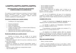 PROCESO JUDICIAL POR IMPAGO DE PENSIONES