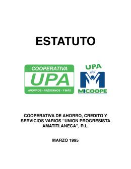 ESTATUTO - Escuela UPA