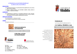 FOLLETO VOLUNTARIADO - Ayuntamiento Villalbilla