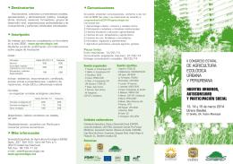 Más información - Sociedad Española de Agricultura Ecológica