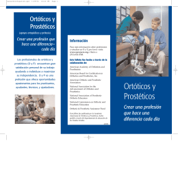 Ortóticos y Prostéticos - American Academy of Orthotists & Prosthetists