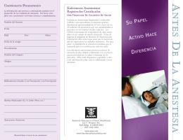 Antes de la Anestesia: Su Papel Activo Hace Diferencia