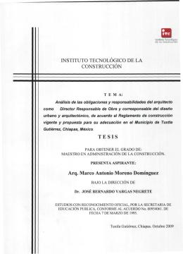 INSTITUTO TECNOLÓGICO DE LA CONSTRUCCIÓN TESIS Arq