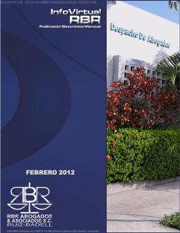 INFOVIRTUAL RBR VOL. 12 FEBRERO 2012. Fecha