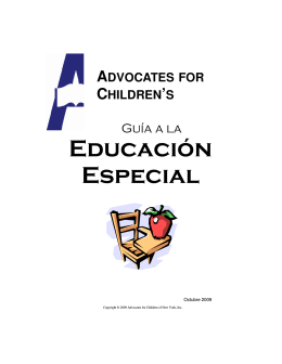 Advocates for Children`s Guide to Special Education