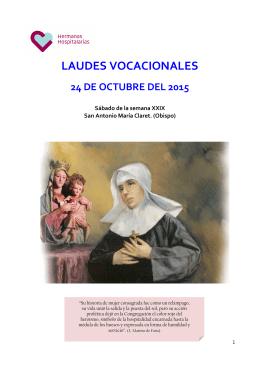 Laudes 24 de octubre 2015 - Hermanas Hospitalarias del Sagrado