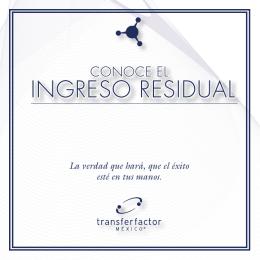 InGReSo ReSIDUAl