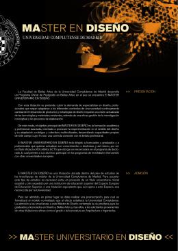 237-2013-05-19-Folleto Máster Universitario en Diseño