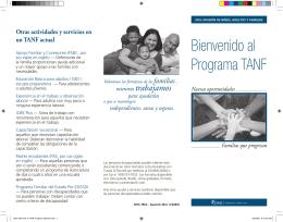 Bienvenido al Programa TANF