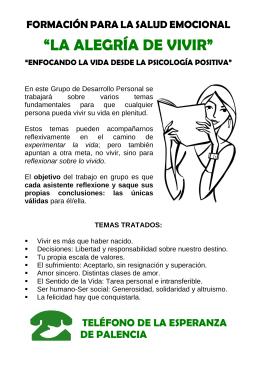 folleto portada - Teléfono de la Esperanza