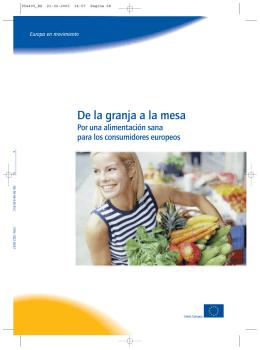 De la granja a la mesa - Por una alimentación sana