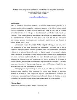 """""""Análisis metodológico de los proyectos terminales"""", Dr. Arturo"""