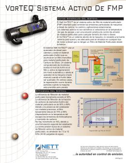 Brochure Insert ( Spanish) - Vorteq v2.0.4 (2012