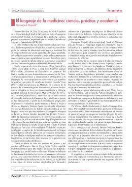Revista Panace@. Número 40. diciembre de 2014