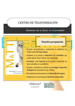 CENTRO DE TELEFORMACIO N ¿Hablamos?