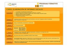 Folleto curso Informe Social 2012 - Colegio Oficial de Trabajadores