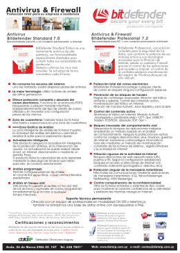 folleto bitdefender std y pro