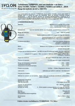 Turbidimetro TURBIPOOL para una medición « en línea »