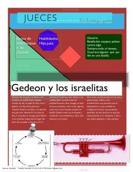 Gedeon y los israelitas