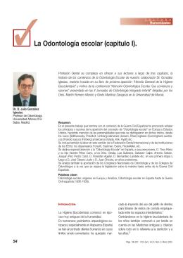 La Odontología escolar (capitulo I).
