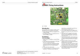 CPU801 Fixing Instructions