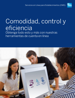 Comodidad, control y eficiencia