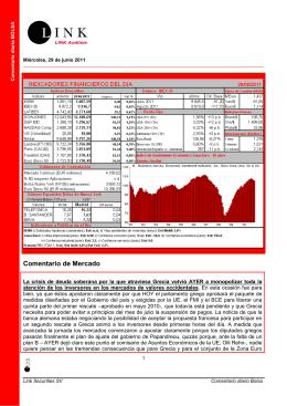 Comentario de Mercado - Landa Servicios Financieros