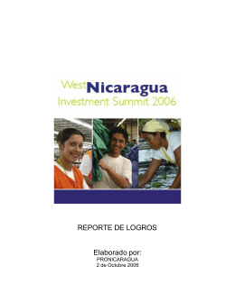 Reporte final West Nicaragua Investiment Summit