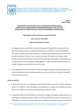 Español Original: inglés FEDERACIÓN DE ASOCIACIONES DE EX