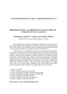 bibliografía del anarquismo en españa 1868-1939