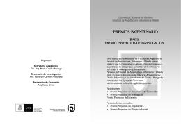 BICENTENARIO Concursos. Folleto Investigación