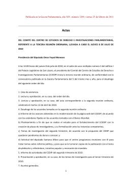 3a. Reunión Ordinaria del Comité del CEDIP