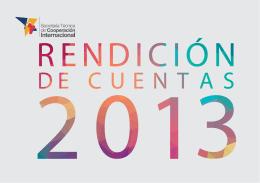 Descargue aquí Rendición de Cuentas 2013