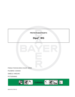 Etiqueta Dipel® WG - Bayer CropScience Chile