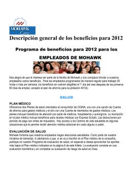 Descripción general de los beneficios para 2012