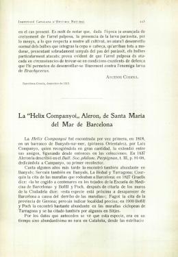 """La """"Helix Companyoi"""" Aleron, de Santa Maria del Mar de Barcelona"""