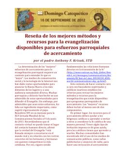 Reseña de los mejores métodos y recursos para la evangelización
