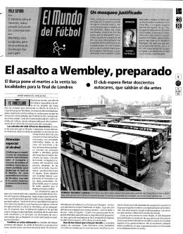 El asalto a Wembley, preparado _