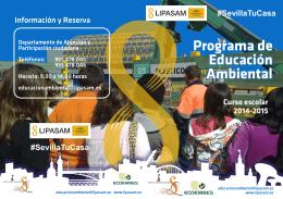 Programa de Educación Ambiental Programa de Educación Ambiental