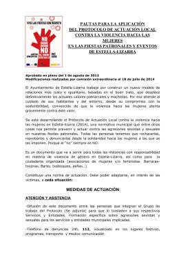 fiestas protocolo castellano 2014 - Ayuntamiento de Estella