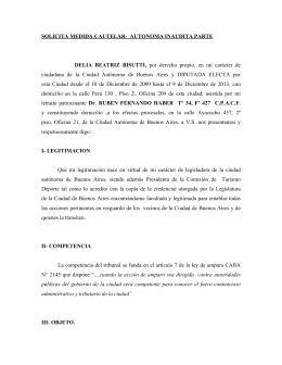 SOLICITA MEDIDA CAUTELAR- AUTONOMA INAUDITA