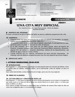 UNA CITA MUY ESPECIAL - Recursos Escuela Sabática