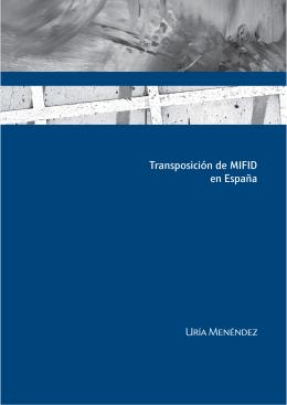 Transposición de MIFID en España