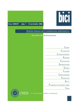 Sección de Información Boletín Interno de Coordinación