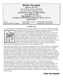 Boletín Parroquial - St Pius X Parish