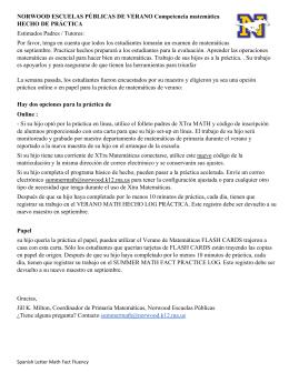 Page 1 NORWOOD ESCUELAS PÚBLICAS DE VERANO