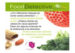 Food Detective es sencillo Y fácil de usar