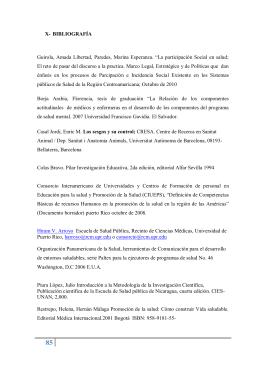 X- BIBLIOGRAFÍA Guirola, Amada Libertad, Paredes, Marina